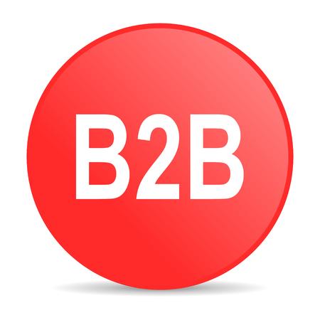 b2b: icono de web b2b Foto de archivo