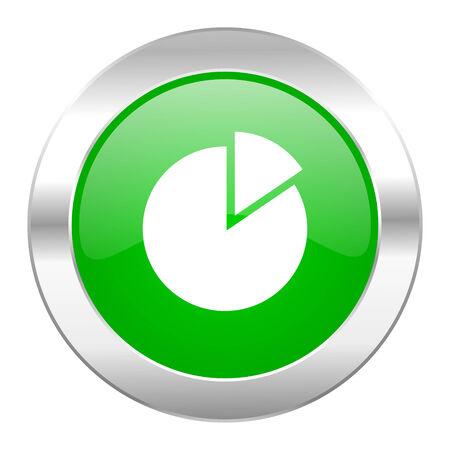 chart green circle chrome web icon isolated photo
