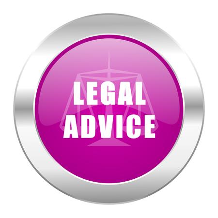 asesoria legal: asesoramiento jur�dico violeta c�rculo icono web cromo aislado