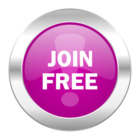 join free violet circle chrome web icon isolated photo