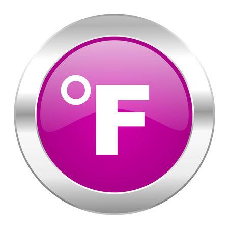 fahrenheit: fahrenheit c�rculo violeta icono de Chrome Web aislado