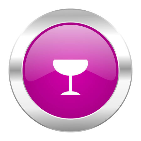 champain: alcohol  violet circle chrome web icon isolated