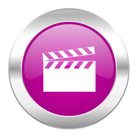 video violet circle chrome web icon isolated photo