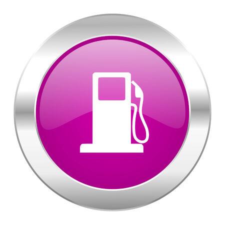 petrol violet circle chrome web icon isolated photo