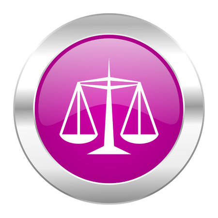 justice violet circle chrome web icon isolated photo