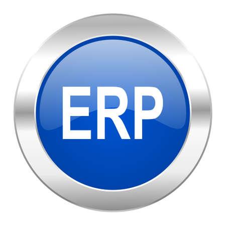 erp blue circle chrome web icon isolated photo