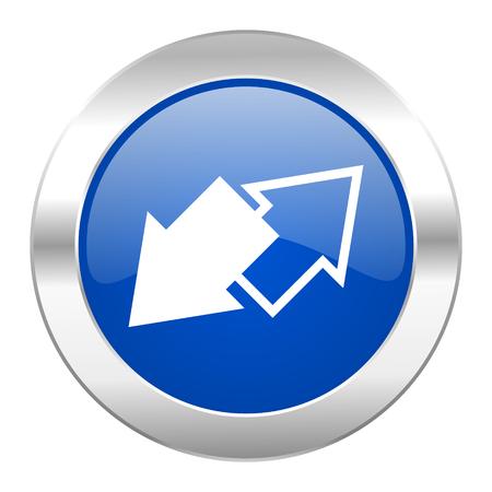 exchange blue circle chrome web icon isolated photo