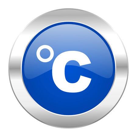 celsius blue circle chrome web icon isolated