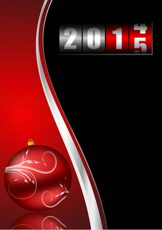 2015 new years illustration with counter illustration