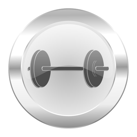 fitness chrome web icon isolated photo