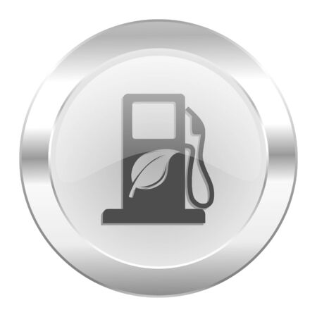 biofuel chrome web icon isolated photo