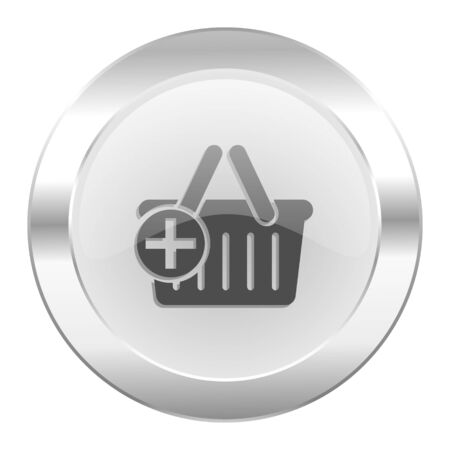 chrome cart: cart chrome web icon isolated
