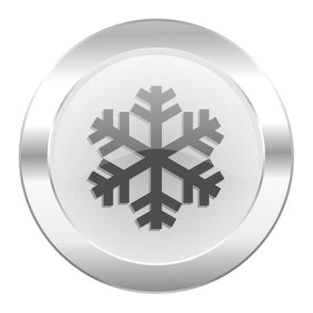 snow chrome web icon isolated photo