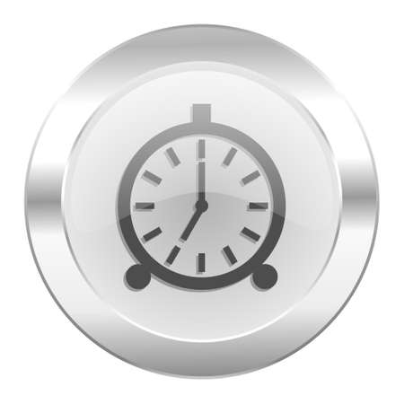 alarm chrome web icon isolated photo