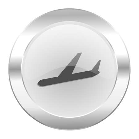 arrivals: arrivals chrome web icon isolated Stock Photo