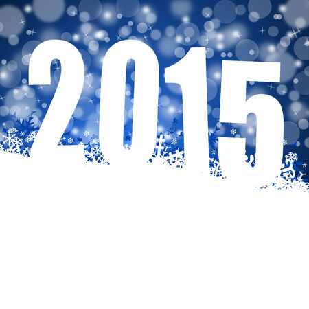 2015 new years illustration with snowflakes illustration