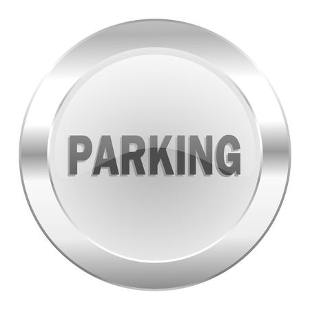 parking chrome web icon isolated Stock Photo