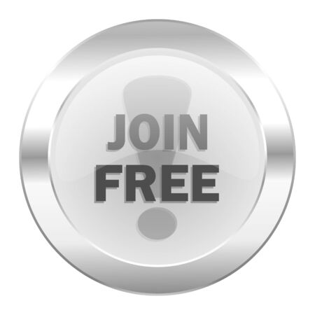 join free chrome web icon isolated photo