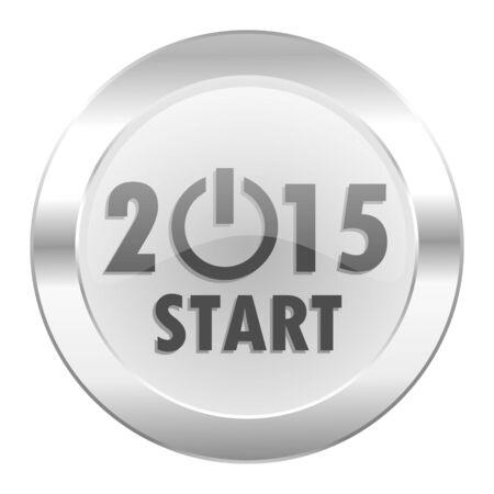new year 2015 chrome web icon isolated photo