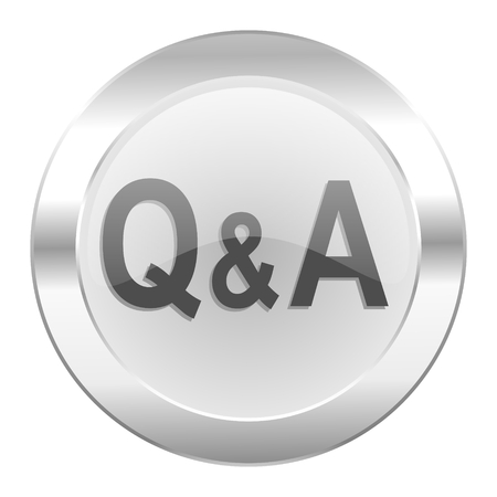 question answer chrome web icon isolated photo