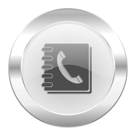 phonebook chrome web icon isolated Zdjęcie Seryjne