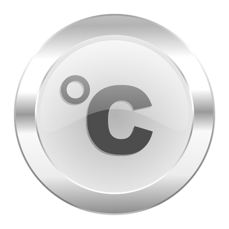 celsius: celsius chrome web icon isolated Stock Photo