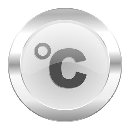 celcius: celsius chrome web icon isolated Stock Photo