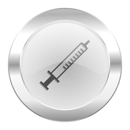 medicine chrome web icon isolated photo