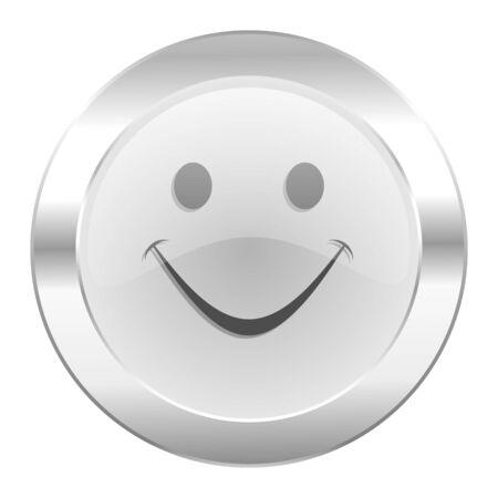 new yea: smile chrome web icon isolated