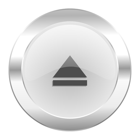eject: eject chrome web icon isolated