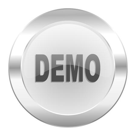 demo chrome web icon isolated Stock Photo