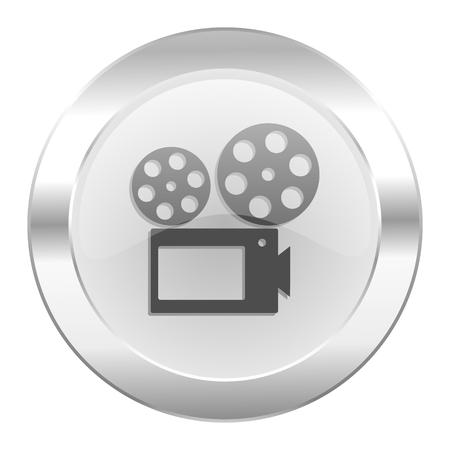 movie chrome web icon isolated photo