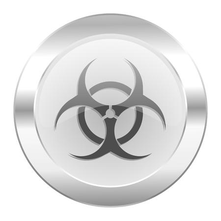 varez: biohazard chrome web icon isolated