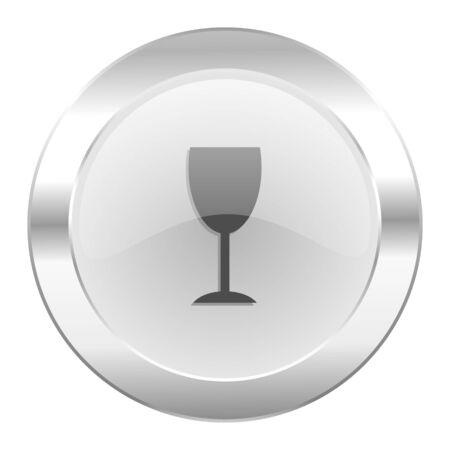 champain: alcohol  chrome web icon isolated Stock Photo