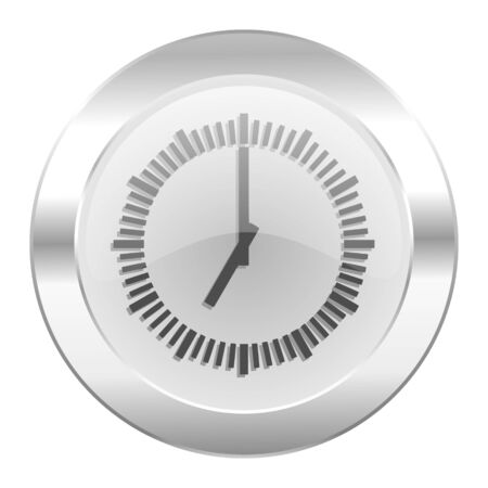 time chrome web icon isolated Stock Photo