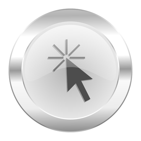 click here chrome web icon isolated photo