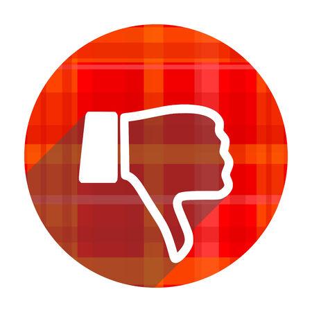 dislike: hekel rode flat pictogram geïsoleerd