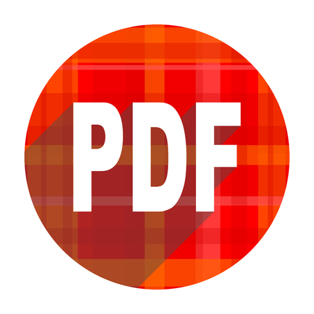 bibliography: pdf red flat icon isolated
