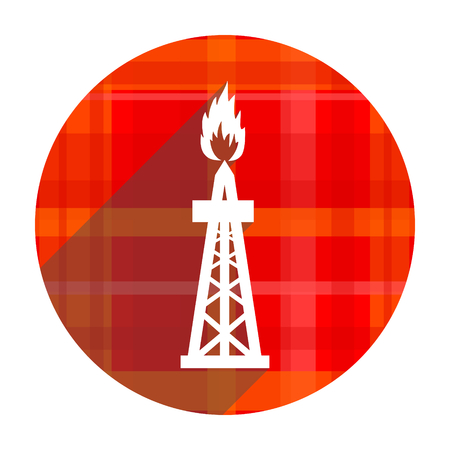 gas red flat icon isolated photo