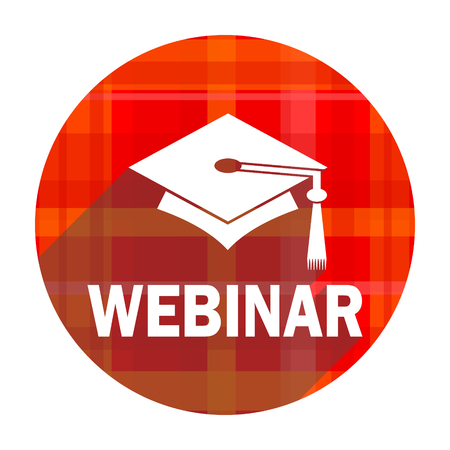 webinar red flat icon isolated photo