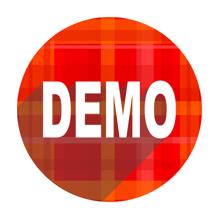 demo red flat icon isolated photo