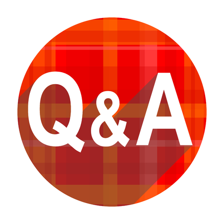 question answer red flat icon isolated photo
