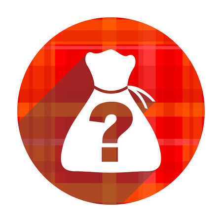 riddle: riddle red flat icon isolated