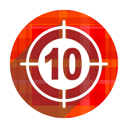 target red flat icon isolated photo