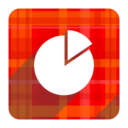 chart red flat icon isolated photo
