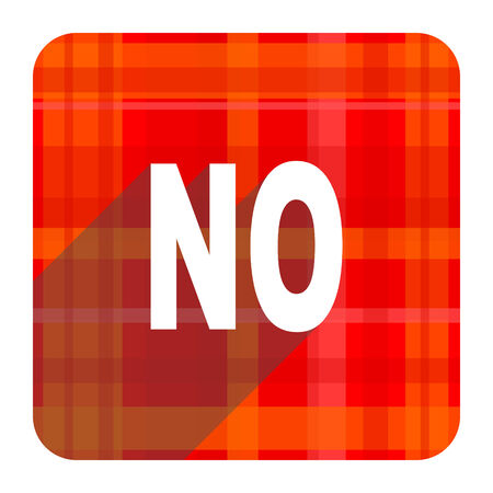 negate: no red flat icon isolated Stock Photo