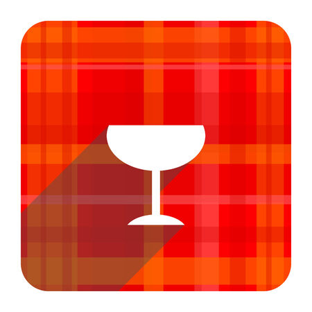 champain: alcohol  red flat icon isolated