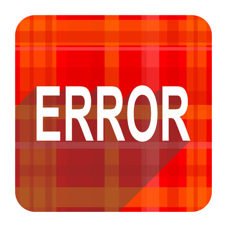 error red flat icon isolated photo