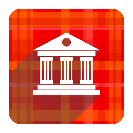 museum red flat icon isolated photo