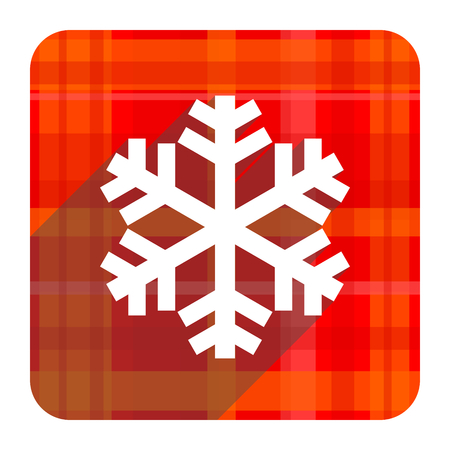 snow red flat icon isolated photo
